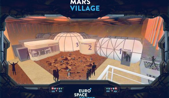 Euro Space Center - étoiles - Transinne - Mars Village